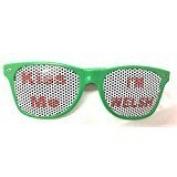 Kiss Me I'm Welsh Novelty Glasses