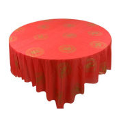 Set of 10 Round Table Chinese Style Plastic Tablecloths Home/Hotel Tablecloth,A2