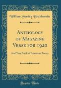Anthology of Magazine Verse for 1920