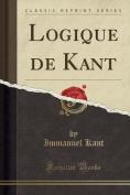 Logique de Kant  [FRE]