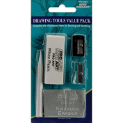 Pro-Art Drawing Tools Eraser & Sharpener Value Set