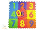 Assemblemat®-Soft Numbers Play Mats - Interlocking Foam Mat For Children - Activity Puzzle Playmats - Floor Protection - EVA Foam Rubber Numbers Mat - 0 - 9 = 10 Mats in total