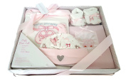 Really Cute 4 Piece Set Comprising Of Booties, Hat, Bodysuit And Photo Album Presented In Gift Box