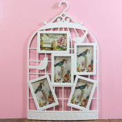 Just Contempo Exquisite Wall Hanging Bird Cage Design Multi-Photo Frame, White, 63 x 39 x 3 cm