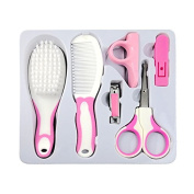 Set of 6PCS Baby Manicure Set with Grooming Kit Infant Toddler Grooming Health Care Kit with Scissor Nail Clipper