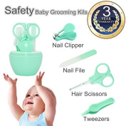 Baby Nail Clippers Safety Baby Manicure Set Nursery Care Kit For Newborn Infant Comfy Nail Kit Toddler Nail Grooming Baby Nail Trimmer Nail Clippers + Scissors + Tweezers+Nail File