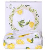 Bambi Bamboo Super Soft Organic Bamboo Hooded Towel Lemon