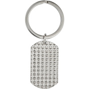 Primal Steel Stainless Steel Polished and Textured Key Chain