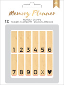 American Crafts Memory Planner Mounted Stamps-Marble Crush - Numbers