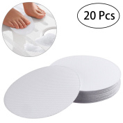OUNONA 20 PCS Non-Slip Safety Shower Treads 10CM PEVA Anti-slip Discs Tape Non Slip Stickers for Tubs Bath