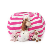 Best Stuffed Animal Storage Bean Bag Chair, Premium Cotton Canvas Toy Organiser for Kids Bedroom, Perfect Storage Solution for Plush Toys, Blankets, Towels & Clothes T-Bugs