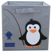 TATER & TOTS Lead and Phthalate Free Collapsible Fabric Cube Storage Bin for Boys and Girls