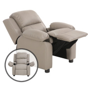Costzon Kids Recliner Sofa, Deluxe Padded Armchair Headrest with Storage Arms