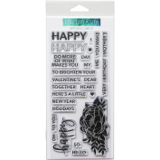 Concord & 9th Clear Stamps 10cm x 20cm -Happy Words