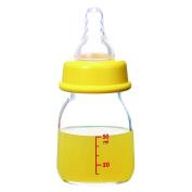 Fostly Glass Baby Bottle Slim Type Baby Fruit Juice Bottle Feeding Bottles For Infants Newborns and Toddlers 50 ml