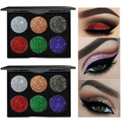 Oyedens 6 Colours Shimmer Glitter Eye Shadow Powder Palette Matte Eye Cosmetic Makeup