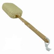 DPNY LONG HANDLED WOODEN LOOFAH BACK SCRUBBER SPA BODY SPONGE SHOWER BATH SISAL BRUSH