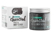 ClearDOT Premium Bodycare Activated Charcoal Body Scrub and Facial Scrub, 250g - Natural Skin Care Formula Promotes Skin Whitening, Fights Acne and Helps Improve Complexion