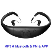 Tayogo Upgraded Waterproof Mp3 Player & Bluetooth Headset & FM All In One with App for swimming, hiking, surfing