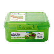 Sistema Bento Cube Lunch 1.25L Coloured Assorted