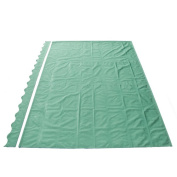 Waterproof Aleko Dark Green Fabric For Retractable Patio Awning, 4m x 3m