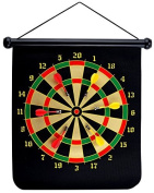 UKXHY 38cm Magnetic Safety Dart Board Sets With 6 Reversible Darts Rolling Two Sided Magnetic Dartboard Bullseye Game for Kids Family Leisure Sports