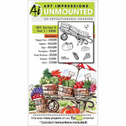 "Art Impressions 4056 Watercolour Series ""WC 3 Set 2.5cm Rubber Stamp"