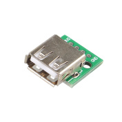 HALJIA 2pcs Type A Female USB 4 pin To DIP 2.54MM PCB Board Adapter Converter For Breadboard Arduino Power Supply DIY