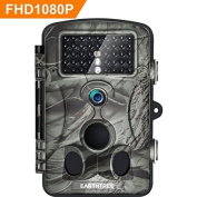 Trail Camera, Earthtree Wildlife Camera 12M 1080P HD Game Hunting Camera with 120° Wide Detection Angel 42PCs 940nm IR LEDs Night Vision, 6.1cm LCD Display IP54 Waterproof
