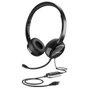 Mpow USB Headset, PC Headset 3.5mm Chat Headset Gaming Headset VOIP Headset In-line Control for Mac PC Moblie Phone
