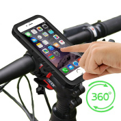 Bike Mount Holder,Motorbike Mount Holder,Bike Phone Mount with IP68 iPhone Waterproof Case Motorcycle Bicycle for iPhone 7 Plus(14cm ) 360 Degree Rotation Touch Screen Fingerprint identification