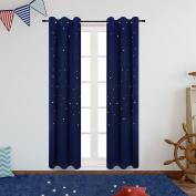 Anjee Blackout Curtains for Kids Room (2 Panels), Starry Sky Window Draperies for Star Wars Themed Children's Room and Nursery