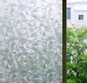 Bloss 3D No Glue Stati Cling Window Films Privacy Cut Glass Sticker for Bathroom Office Kitchen Window Decor 45cm x 200cm