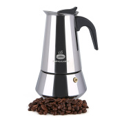 Maggift Coffee Stovetop Espresso Maker, Stainless Steel for Gas or Electric Stove Top Moka Pot
