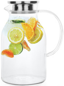 Glass Pitcher With Lid By Golden Spoon