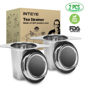 Tea Infuser,Tea Strainer,2 PACK 304 Stainless Steel Water Filter with Double Handles for Hanging on Teapots, Mugs, Cups to steep Loose Leaf Tea and Coffee,Cold Brew Coffee Maker. FDA Approved.