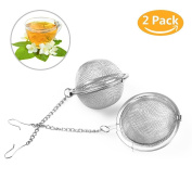 [Upgraded]Tea Ball Strainer, Luckyiren 304 Stainless Steel Mesh Tall Infuser Tea Filter for Loose Tea Leaf, 7cm in Dia