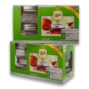 (2 Packs) Ball Mason Wide Mouth Half Pint Jars - 240ml - 4 Jars Per Box - Total 8 Jars
