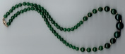 14k Chinese HETIAN Nephrite Jade Necklace / SOLID Gold Clasp & Beads