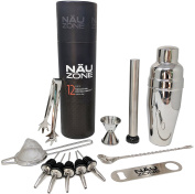 12 Piece Professional Cocktail Shaker Set