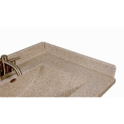 Satin Stone 60cm X 7.6cm Right Hand Side Splash for Wave Style Bathroom Vanity Top in Cappuccino