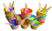 BonBon Vibrant Colours Ice Cream Dessert Bowls and Spoons