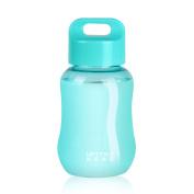 UPSTYLE Mini Plastic Coffee Travel Mugs Water Bottle Sports Water Bottle Cup for Milk, Coffee, Tea, Juice Size 180ml (6oz), Blue