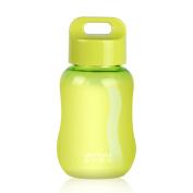 UPSTYLE Mini Plastic Coffee Travel Mugs Water Bottle Sports Water Bottle Cup for Milk, Coffee, Tea, Juice Size 180ml (6oz), Green