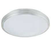 Eco Light LED Bathroom Light with Sensor with Various – 880 Lumens 12 W Ceiling Fitting Diameter 30 cm, Silver 8020 30 LEDs IP44 PIR