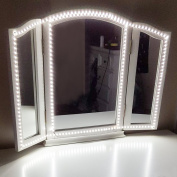 Led Vanity Mirror Lights,ViLSOM 13ft/4M Make-up Vanity Mirror Light kit for Makeup Dressing Table Vanity Set Mirrors with Dimmer and Power Supply,Mirror not Included.
