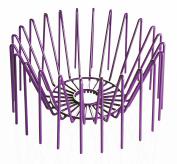 Versa 18550551 Fruit Basket Maple Purple