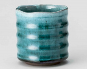 Marine 9.2cm Japanese Tea Cup Blue Ceramic Made in Japan