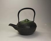 TOKYO MATCHA SELECTION - [Heritage Grade/Offer Limited] TETSUBIN - AOTAKE (Green Bamboo) KYUSU with Kiyomizuyaki Lid - Japanese Cast Iron Tea Pot [Standard ship by EMS