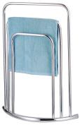 HIGH QUALITY CHROME FREE STANDING 3 BAR TOWEL RAIL BATHROOM RACK HOLDER FLOOR STAND